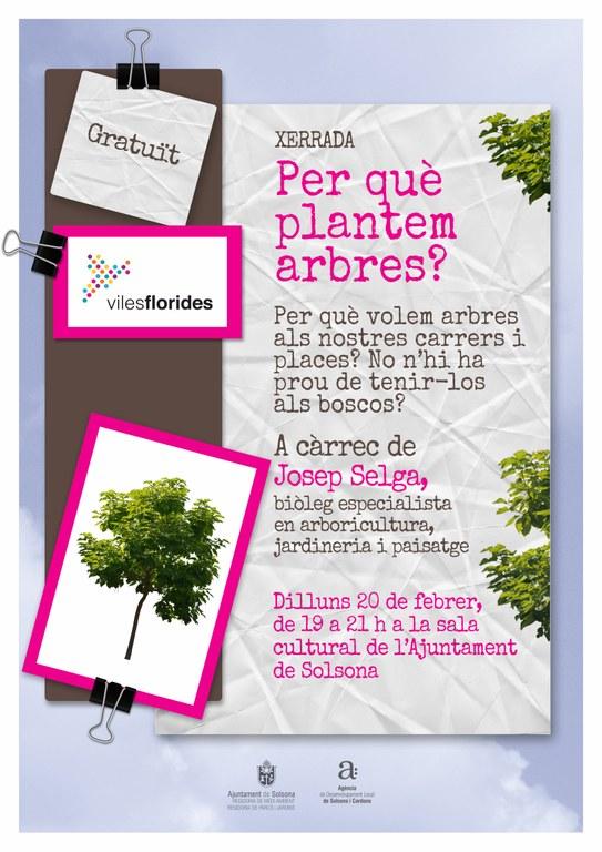 Dilluns l'especialista en arbrat urbà Josep Selga imparteix una jornada a Solsona