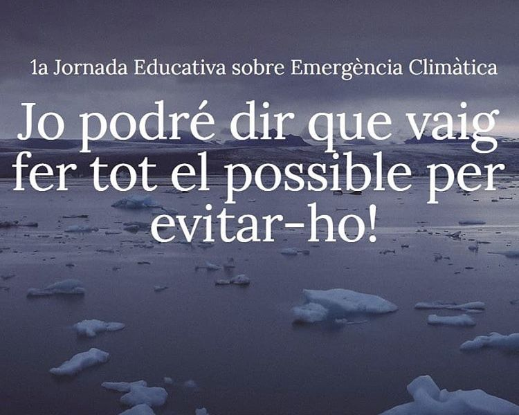1a Jornada educativa sobre emergència climàtica