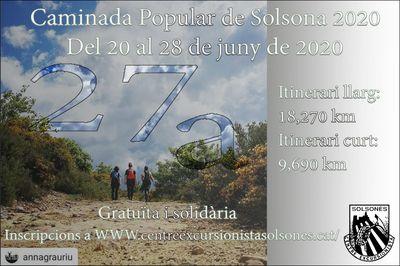 27a Caminada popular de Solsona