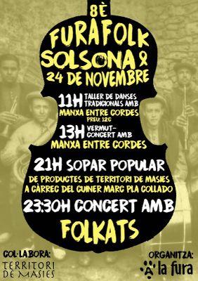 8è Furafolk amb un taller, vermut musical, sopar popular i concert