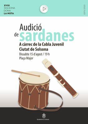 Audició de sardanes a càrrec de la Cobla Juvenil Ciutat de Solsona