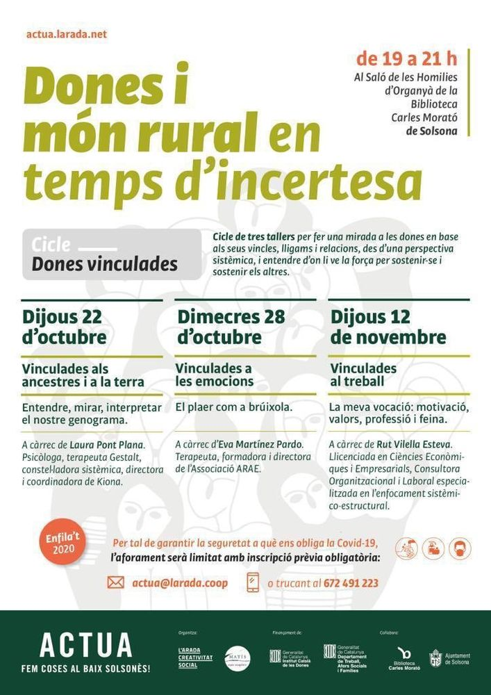 CICLE DE TALLERS: 'Dones vinculades'