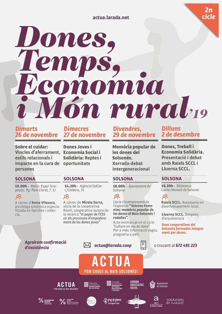 CICLE DE XERRADES: 'Dones, temps, economia i món rural'