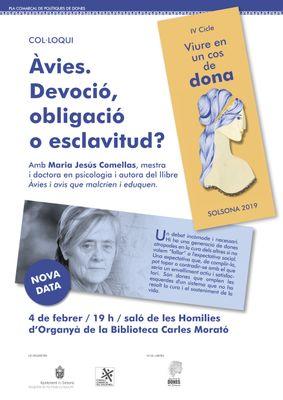 COL·LOQUI: 'Àvies. Devoció, obligació o esclavitud?', a càrrec de M. Jesús Comellas