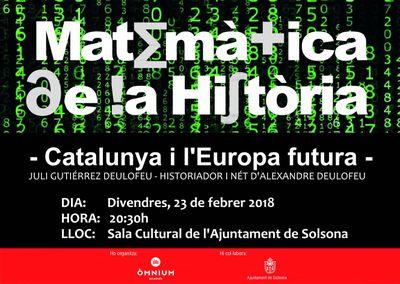 CONFERÈNCIA: 'Matemàtica de la història, Catalunya i l'Europa futures', a càrrec de Juli Gutiérrez Deulofeu