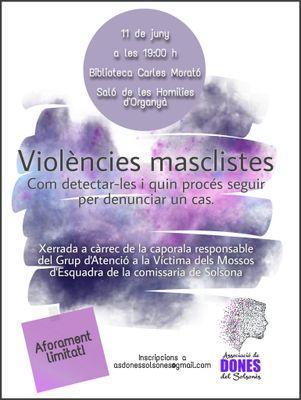 CONFERÈNCIA: Com detectar les violències masclistes i quin procés seguir per denunciar un cas