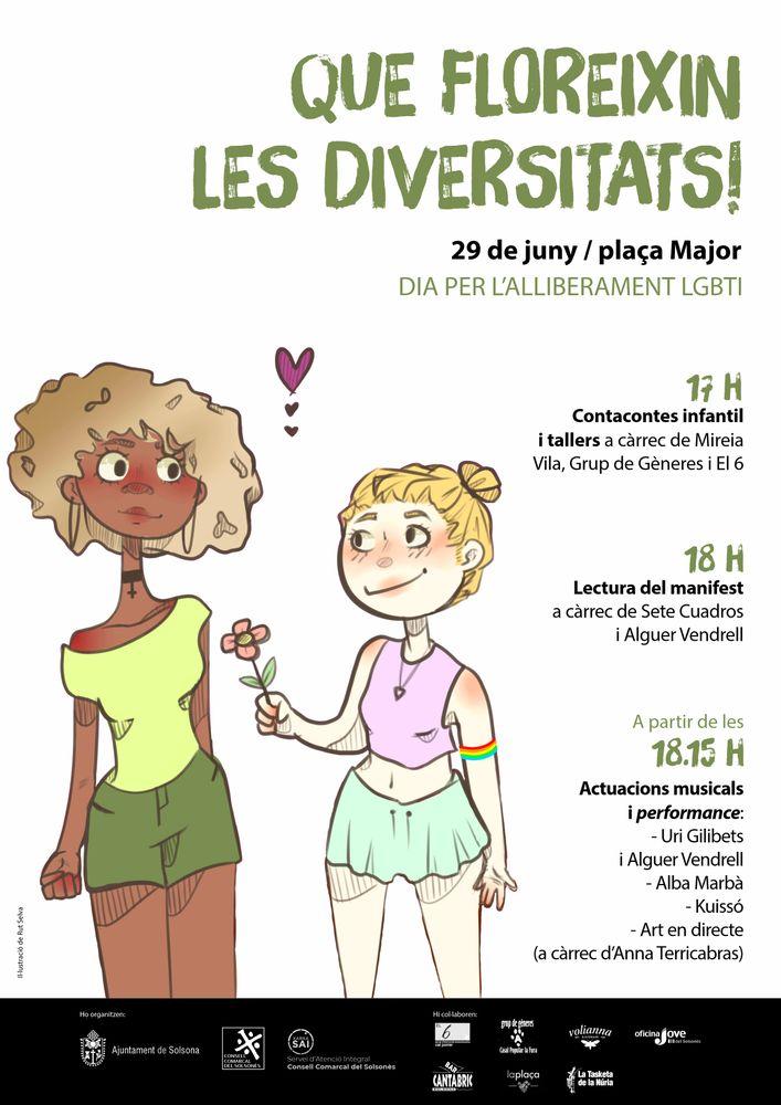 Dia per l'alliberament LGBTI: 'Que floreixin les diversitats!'