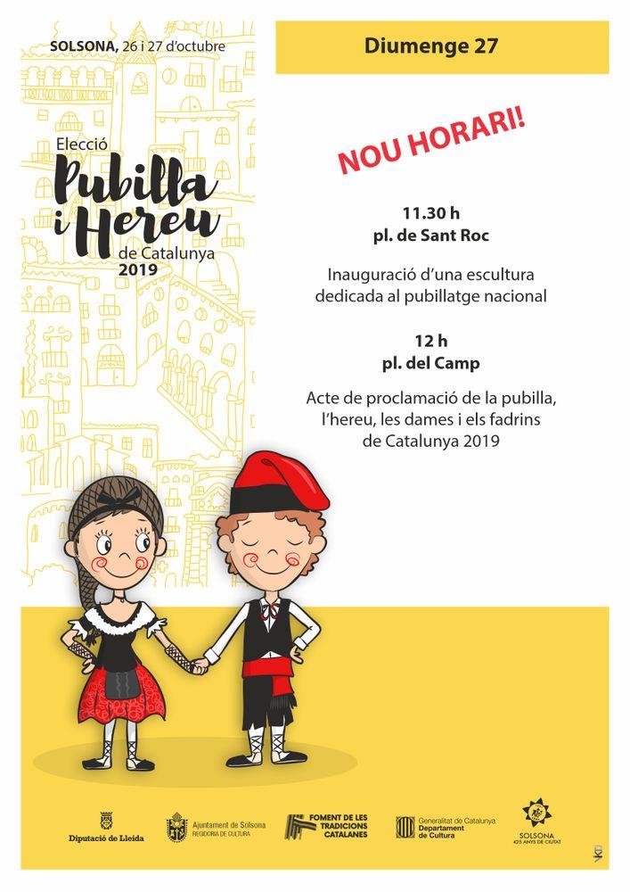Elecció de la pubilla i l'hereu de Catalunya 2019