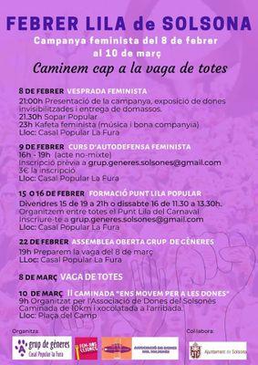 """""""Febrer lila"""" i commemoració del 8-M"""