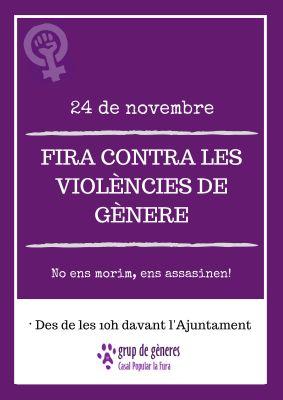Fira contra les violències de gènere