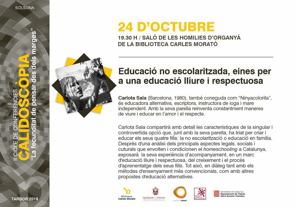 """II CALIDOSCÒPIA: """"Educació no escolaritzada, eines per a una educació lliure i respectuosa"""""""