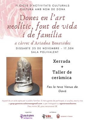 """II CULTURA AMB NOM DE DONA: """"Dones en l'art neolític, font de vida i de família"""""""