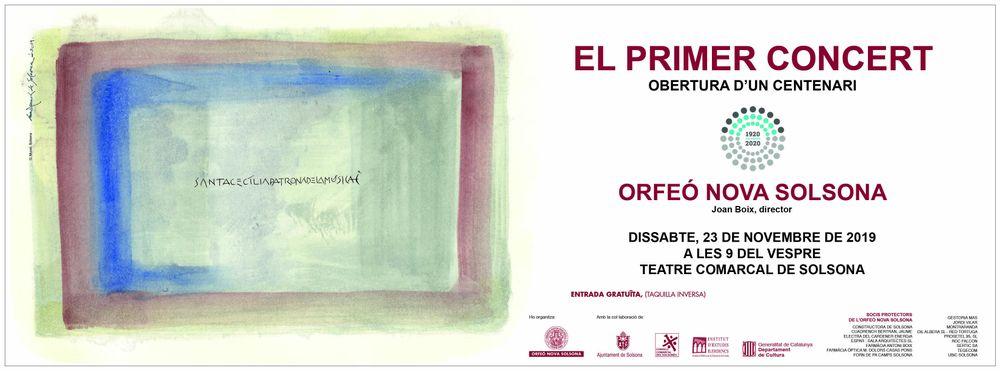 MÚSICA: 'El primer concert', a càrrec de l'Orfeó Nova Solsona