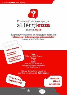 Presentació de la campanya 'Al·lèrgicum' 2018