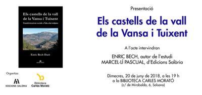 PRESENTACIÓ DE LLIBRE: 'Els castells de la vall de la Vansa i Tuixent'