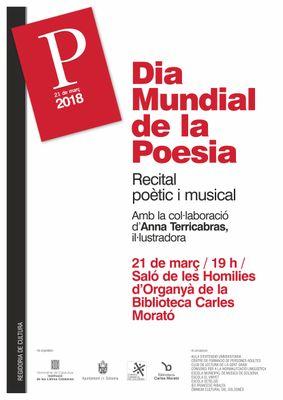 Solsona organitza un recital poètic i musical per commemorar el Dia Mundial de la Poesia