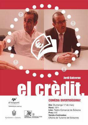 TEATRE: 'El crèdit', a càrrec del Traspunt