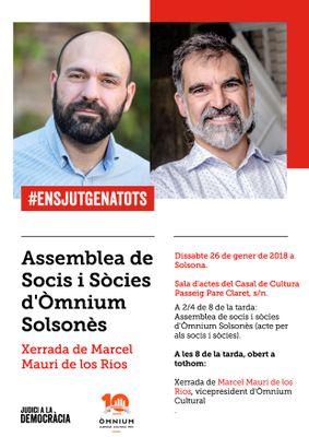 XERRADA: Marcel Mauri de los Rios a Solsona en plena campanya del Judici a la Democràcia