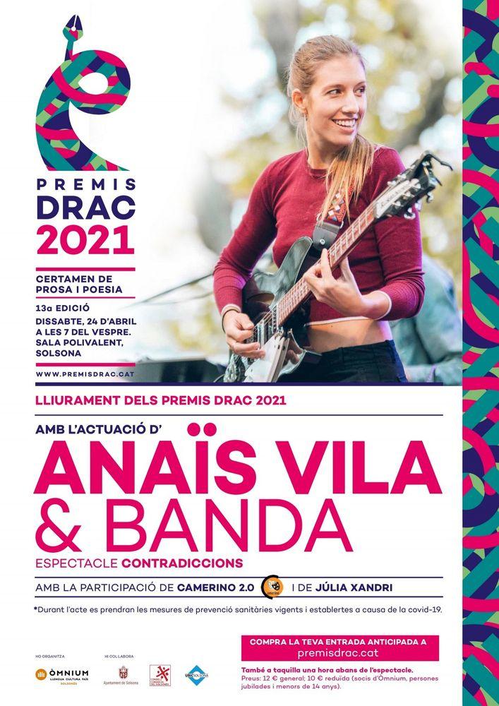 Gala de lliurament dels Premis Drac amb concert d'Anaïs Vila
