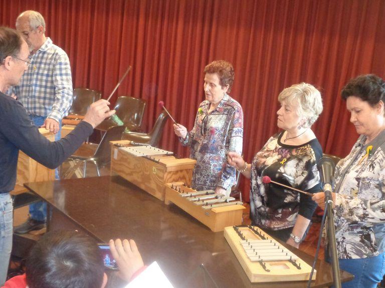 12 persones grans de Solsona troben el benestar a través de la música en un curs organitzat per l'Ajuntament