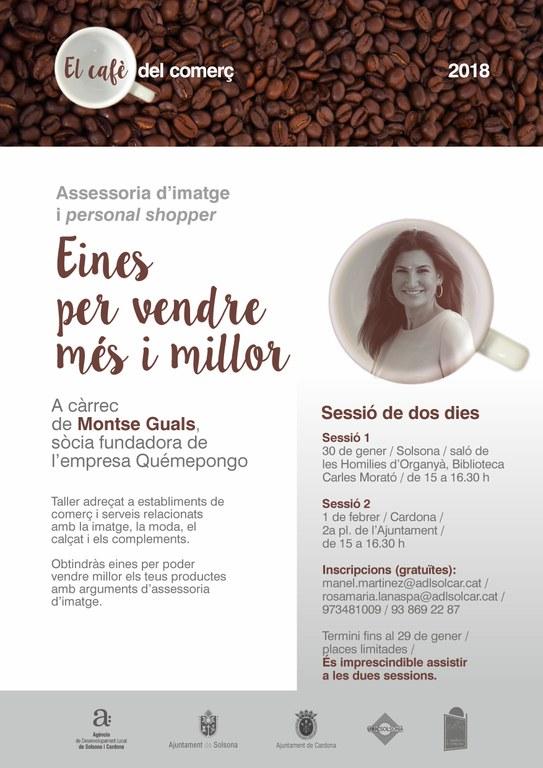 'El cafè del comerç' de Solsona i Cardona proposa un taller per vendre millor amb assessoria d'imatge