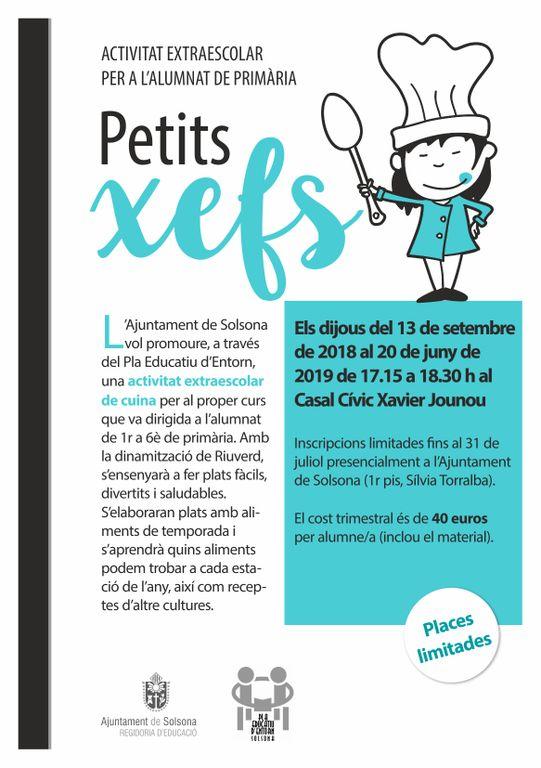 'Petits xefs', la primera activitat extraescolar de cuina a Solsona
