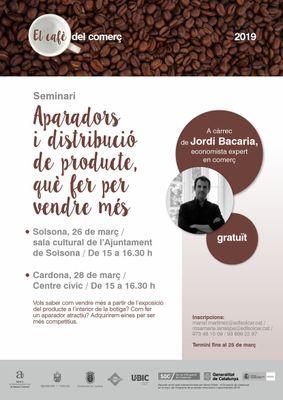 """""""El cafè del comerç"""" de Solsona i Cardona programa un seminari sobre aparadors i distribució de producte per vendre més"""