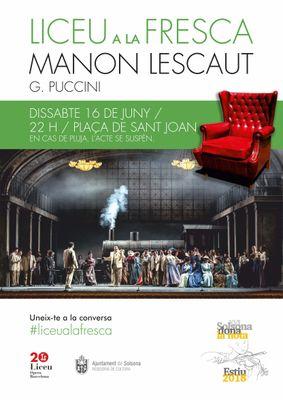 Aquest dissabte, el 'Liceu a la fresca' porta Puccini a la plaça de Sant Joan de Solsona