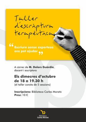 Aquesta tardor la Biblioteca Carles Morató acull un taller d'escriptura terapèutica