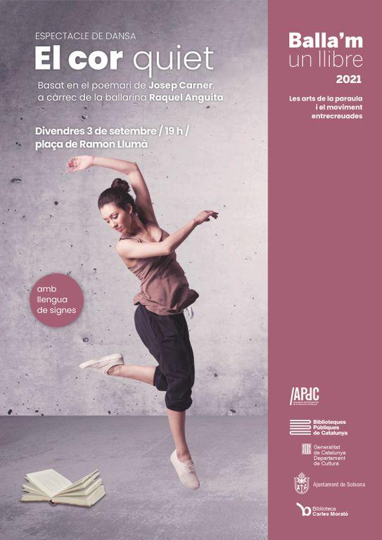 Arriba a Solsona una peça de dansa inspirada en el poemari de Carner 'El cor quiet'