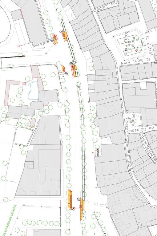 Comencen els treballs per millorar la seguretat de tres passos de vianants de l'avinguda de la Mare de Déu del Claustre de Solsona