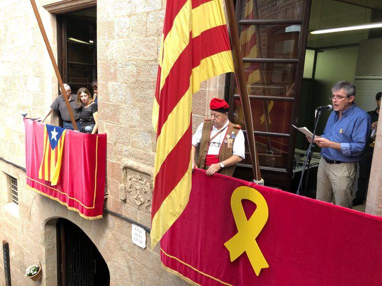 David Rodríguez té un record per als presos polítics i exiliats en l'obertura de la Festa Major de Solsona