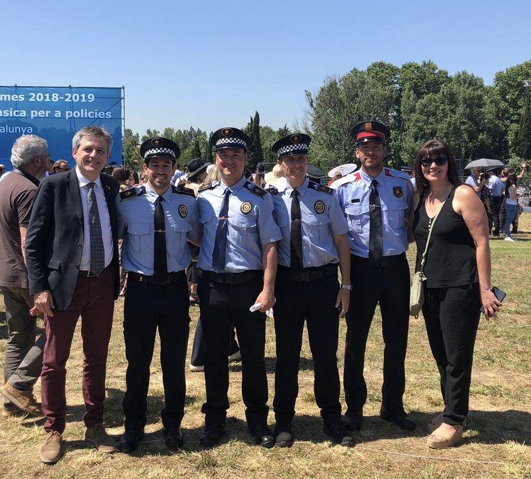 Dos agents de la Policia Local superen el curs de formació a l'Institut de Seguretat Pública de Catalunya