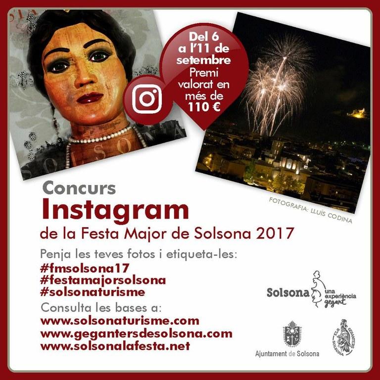 El dia 6 s'obre el 5è Concurs de la Festa Major de Solsona a Instagram
