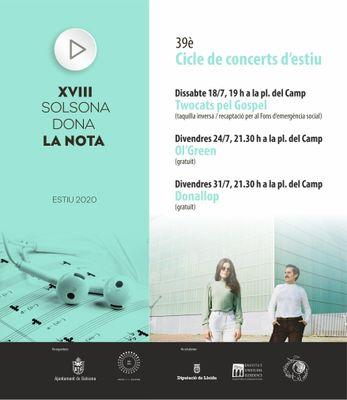 El dissabte 18 s'engega la programació musical 'Solsona dona la nota'