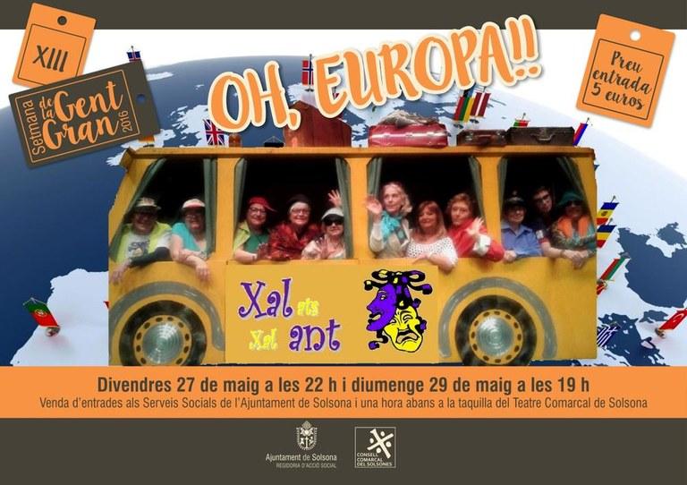 El grup de teatre de gent gran de Solsona, Xalats Xalant, representa la comèdia 'Oh, Europa!'