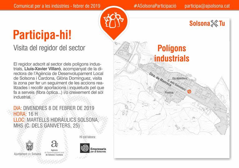 El regidor Lluís-Xavier Villaró convoca aquest divendres els empresaris dels polígons industrials