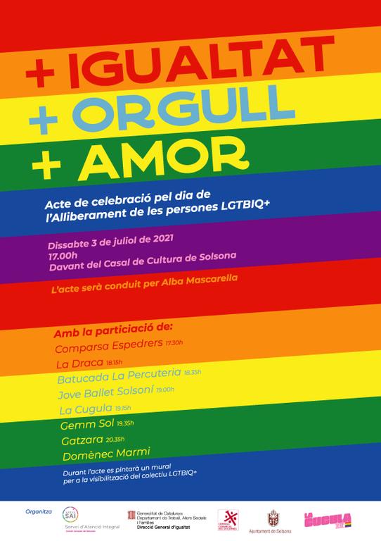 El Solsonès celebrarà el Dia per l'alliberament LGBTIQ+ amb un acte festiu i familiar