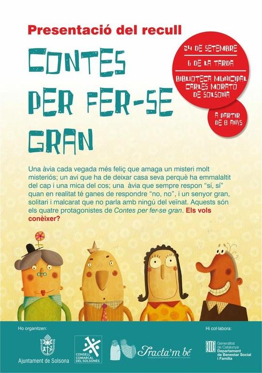 El Solsonès publica un recull de contes infantils per treballar el bon tracte envers la gent gran