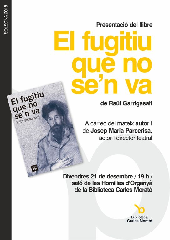El solsoní Raül Garrigasait presenta a la biblioteca la seva obra sobre Santiago Rusiñol