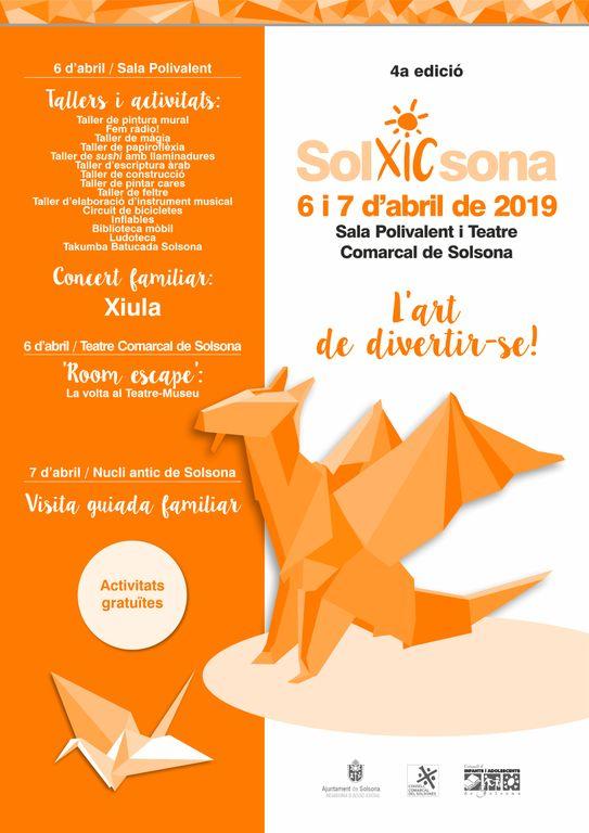 El Solxicsona s'avança al primer cap de setmana d'abril amb més d'una quinzena d'activitats per al públic familiar