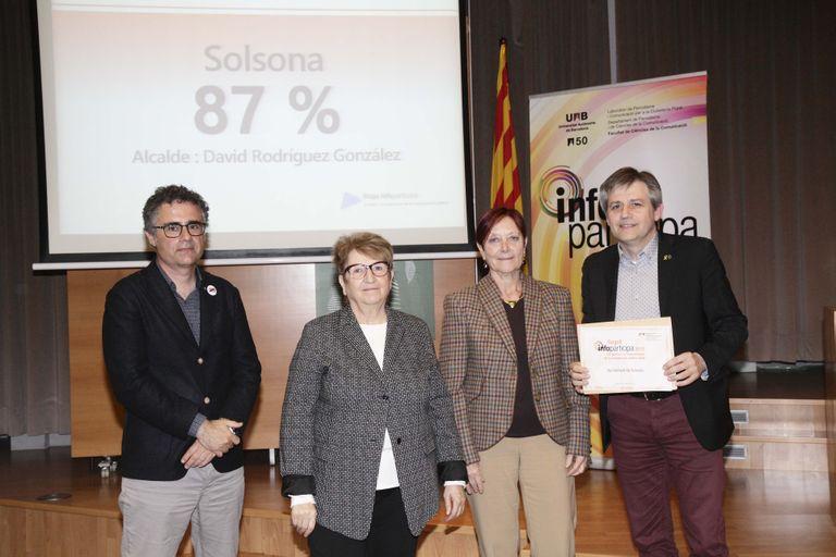 El web de l'Ajuntament de Solsona revalida el segell de qualitat i transparència