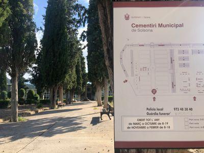 Es restableix a partir d'avui l'horari del cementiri municipal de Solsona