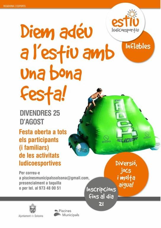 Festa de final d'estiu per als participants a les activitats ludicoesportives de les piscines municipals de Solsona