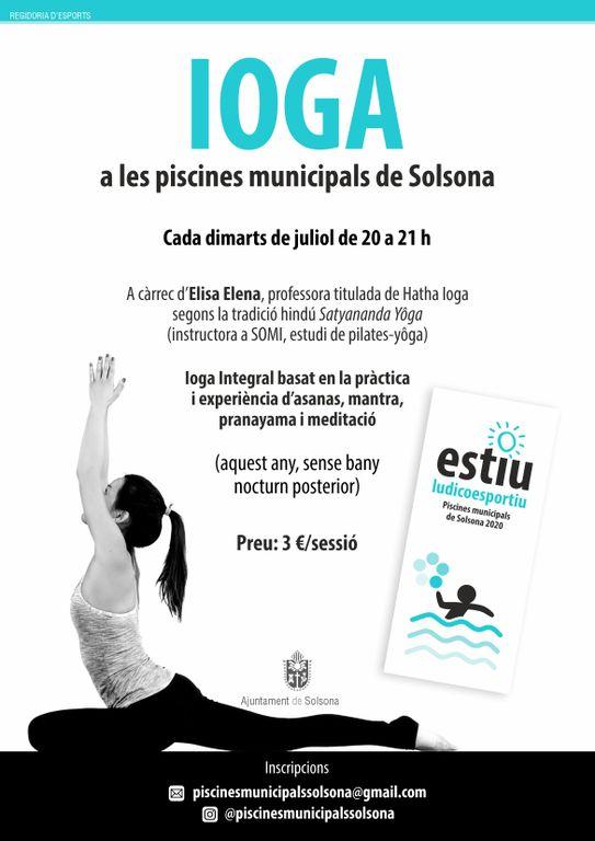 Ioga a les piscines municipals de Solsona els dimarts de juliol