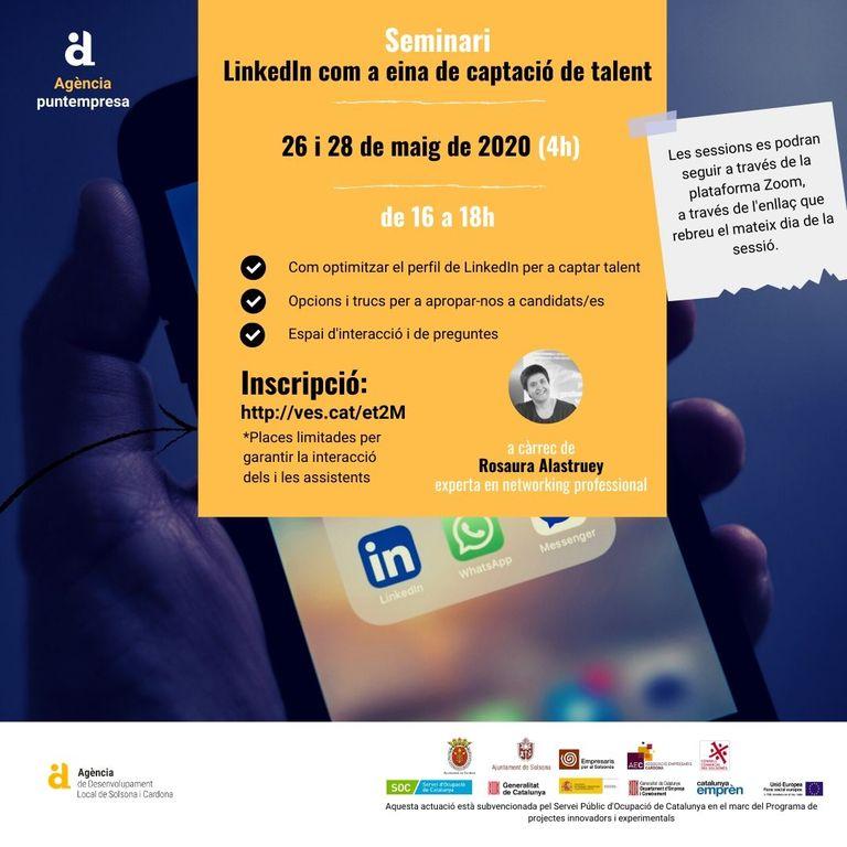 L'Adlsolcar ofereix un seminari per captar talent mitjançant LinkedIn