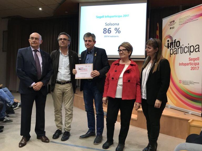 L'Ajuntament de Solsona recupera el segell Infoparticipa que reconeix la transparència del web