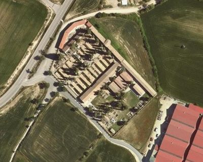 (Foto de l'ICGC) La finca se situa a la banda nord-oriental de l'equipament municipal