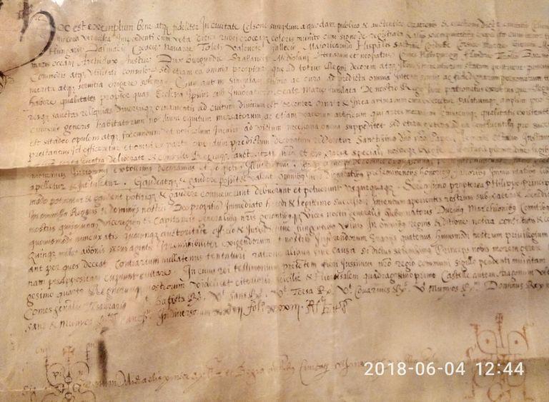 L'Ajuntament solsoní rep l'únic document conegut de la concessió del títol de ciutat, del 1596