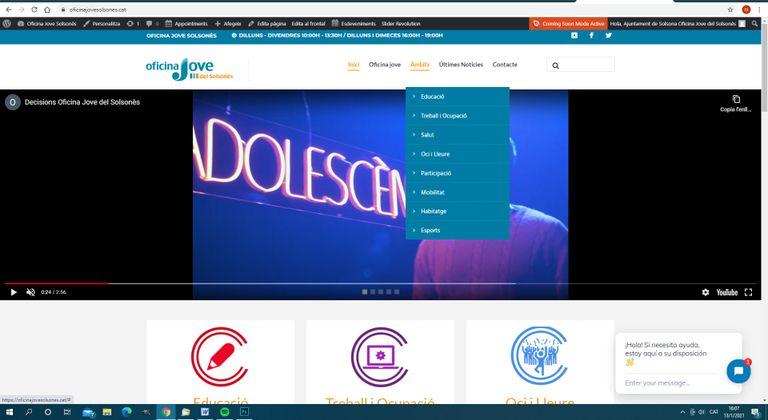 L'Oficina Jove del Solsonès s'apropa al seu públic amb un nou web més interactiu i amb més serveis